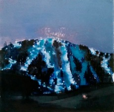 Plot series. We were unable to look away from Diamond Mountain. Oil on canvas, 2015