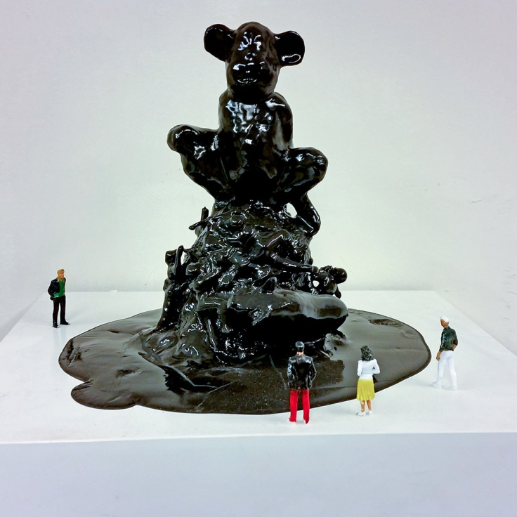 """DYSTOPIAN STATUES. Anno Domini 2066. """"We all take part of our cheerful dance"""", mixed media"""