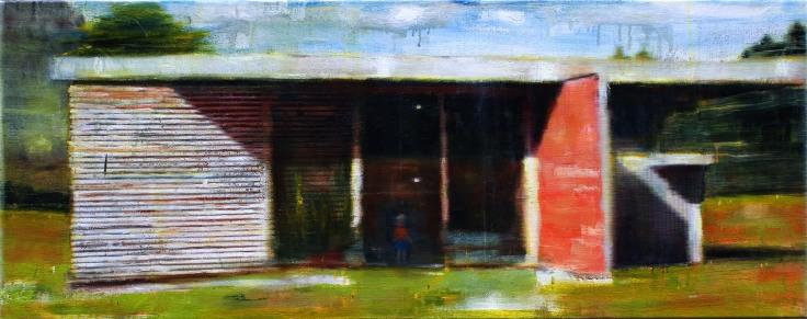 Albert's dilemma, 160x50cm, oil on canvas, 2010