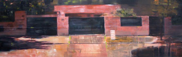 Série Propiedad privada. #5- 160x50 cm -oil on board- 2008