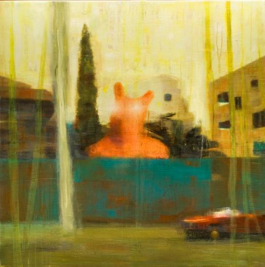 Plot series, Cave canem, 100x100cm, oil on canvas