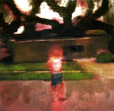 propiedad privada 15, 20x20cm, oil on canvas, 2008