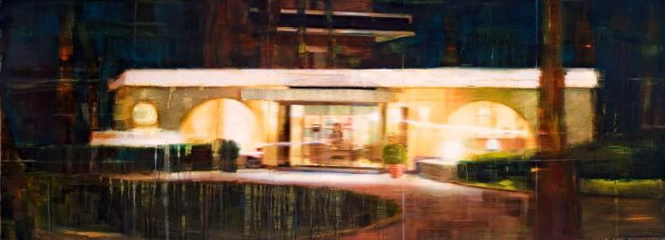 propiedad privada #25b, 200x75 cm, oil on canvas, 2009