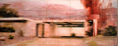 propiedad privada #27, 200x75 cm, oil on board, 2009