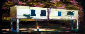 propiedad privada #7, 120x50cm, oil on board, 2008