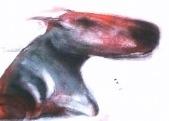 Etre chien 32x24 cm - acrylics on canvas - 2003