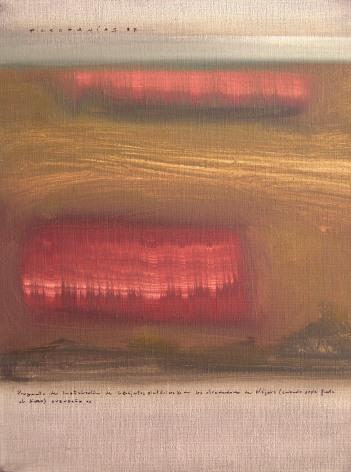 Artefacts picturaux pour Nájera, 40x30 - oil on canvas - 2005