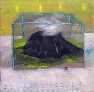 Volcán, 40x40, oil on canvas