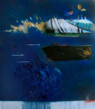"""""""Splash! Floush!"""" 200x150 cm - oil and acryl. on canvas - 2005"""