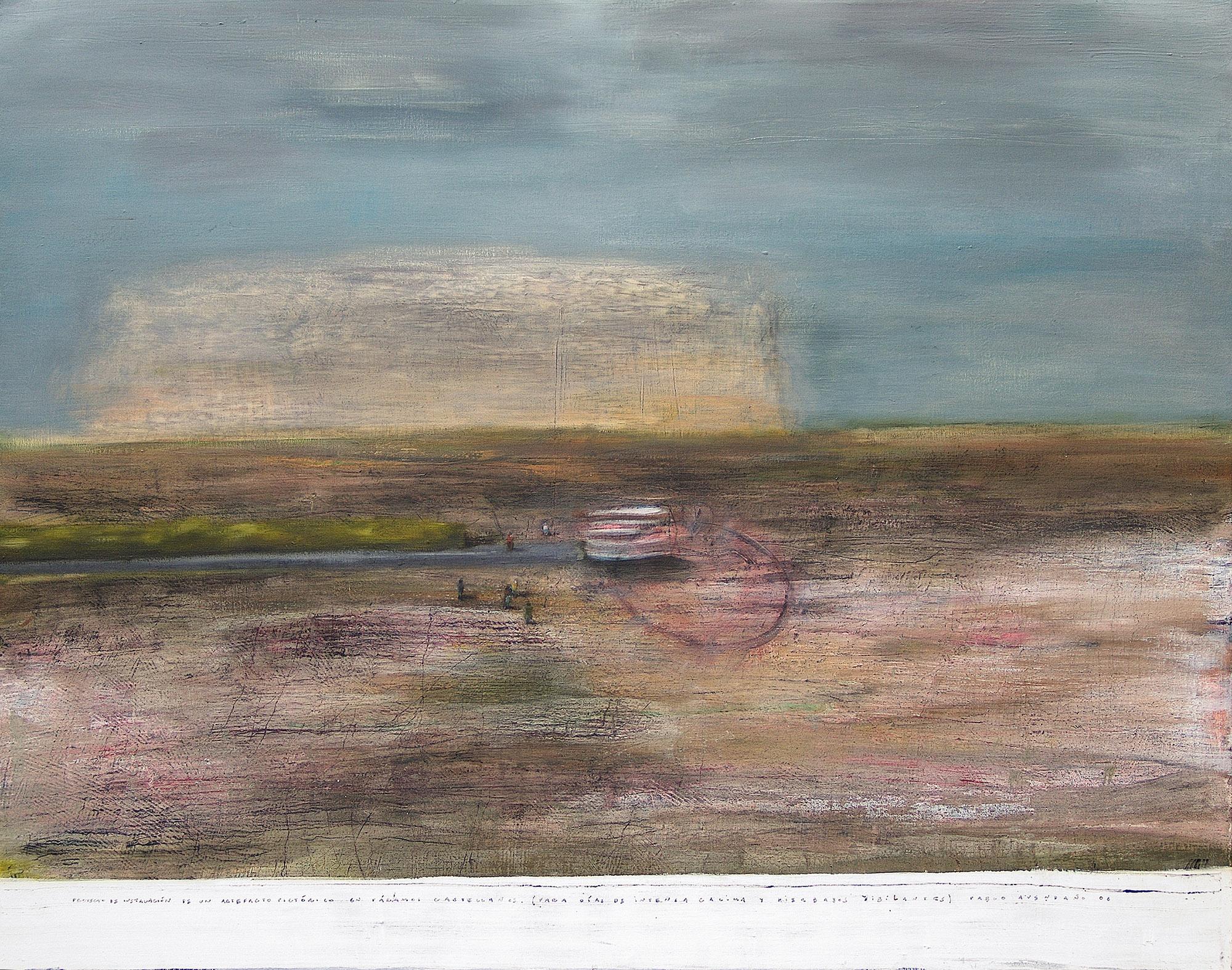 topographismes #1, 80x100, huile sur toile, 2006