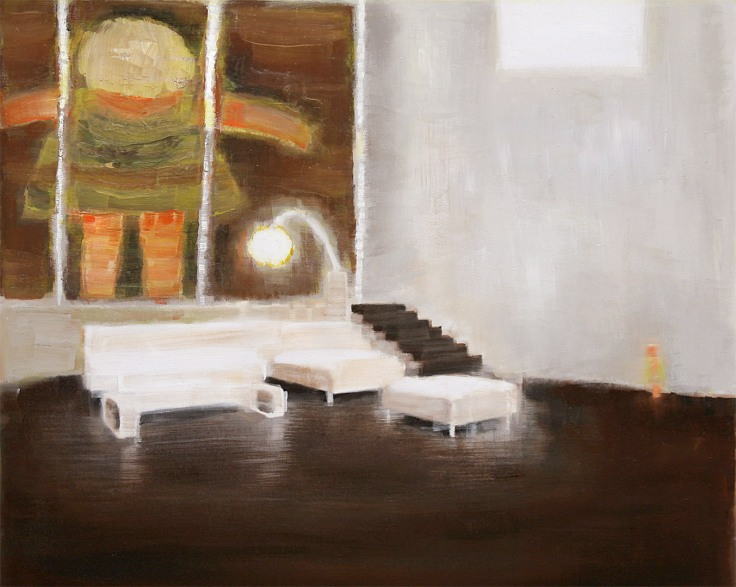 Plot series, this has been against much of the evidence, 2011, oil on canvas, 100x80 cm