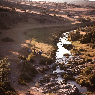 3 LANDSCHAP SERIES, SAINT HIERONYMUS, PHOTOGRAPHY ON WOOD PANNEL, 67X100CM, 2018